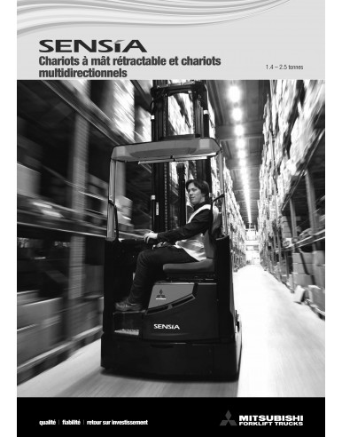 50 Brochures - Chariots à mât rétractable  SENSiA