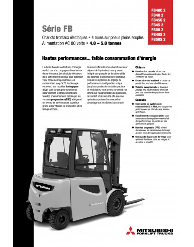 50 FT - FB40-50 Chariots électriques 4 roues 4.0-5.0t
