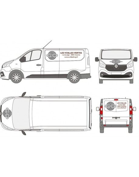Lettrage vehicules utilitaires Premium