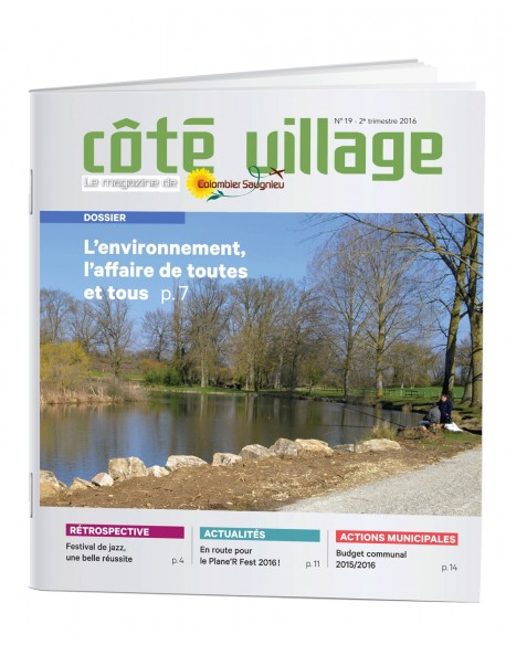 A4 20 pages - Brochure 2 points métal -