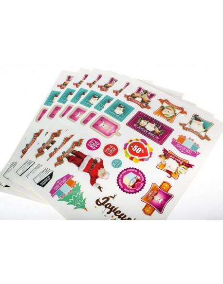 Stickers en planche - adhesif papier